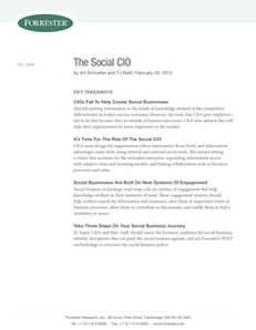 Analyst Report:  Forrester Research – The Social CIO
