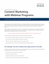 Master the 5 Forces of Content Marketing with Webinar Program