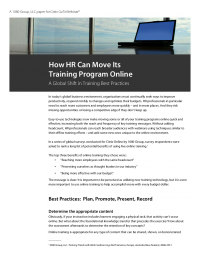 How HR Can Move Its Training Program Online