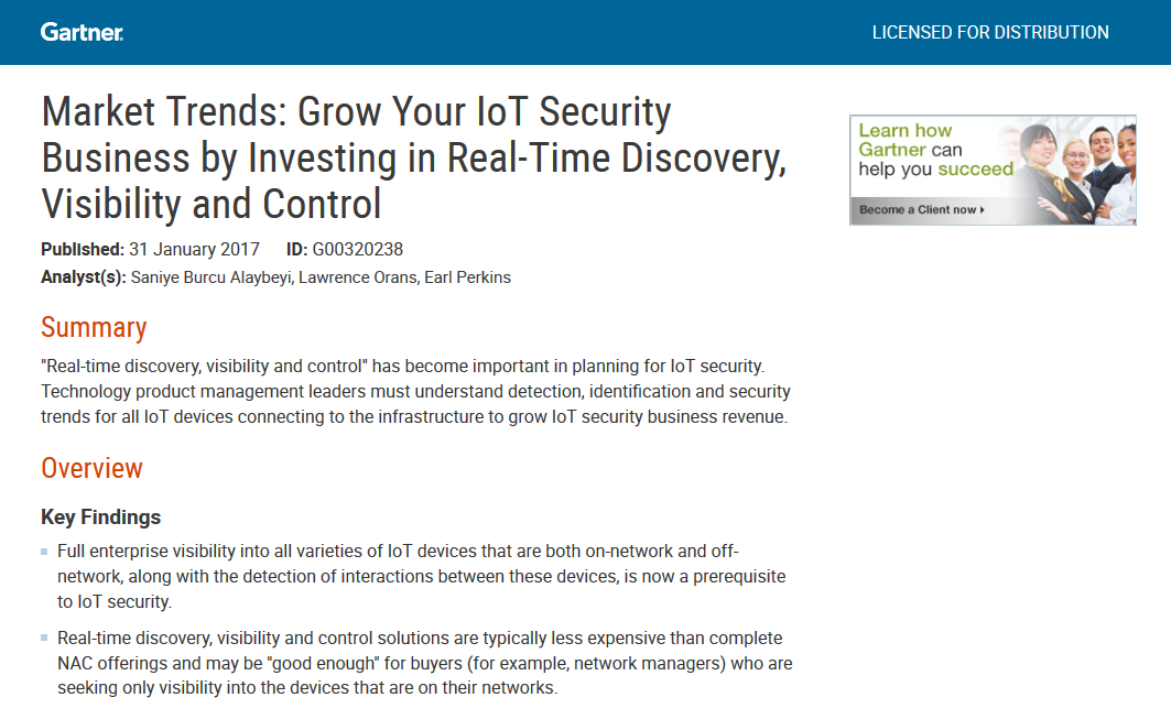 Grow Your IoT Security Business by Investing in Real-Time Discovery, Visibility and Control