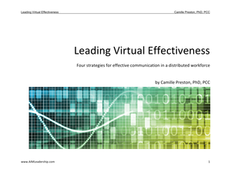 Leading Virtual Effectiveness: 4 Strategies for Effective Communication