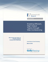 Enabling Efficient, High Output Teams through Web Conferencing