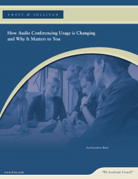 How Audio Conferencing Usage is Changing and Why It Matters to You