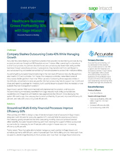 Healthcare Business Grows Profitability 30% with Sage Intacct
