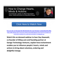 On Demand Webinar: How to Change Hearts Minds and Actions