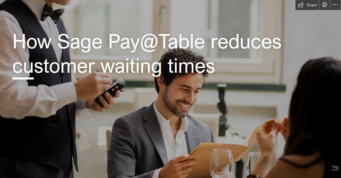 How Sage Pay@Table reduces customer waiting times