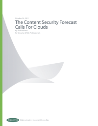 The Content Security Forecast Calls for Clouds