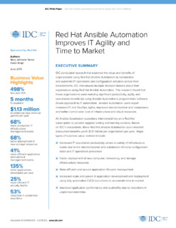 IDC: Business value of Red Hat Ansible Tower