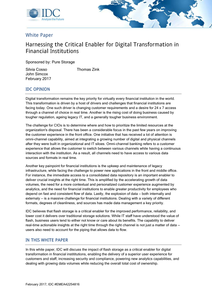 Harnessing the Critical Enabler for Digital Transformation in Financial Institutions