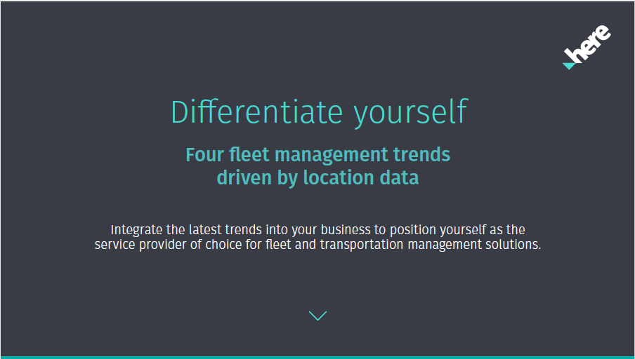 The four big trends in fleet management driven by location data to help you stand out