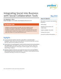 Integrating Social into Business with Social Collaboration Tools