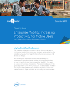Enterprise Mobility: Increasing Productivity for Mobile Users