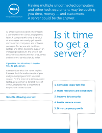 Is It Time to Get a Server?