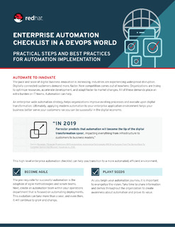 Enterprise automation checklist in a DevOps world