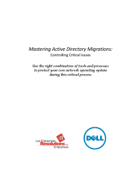 Mastering Active Directory Migrations: Controlling Critical Issues