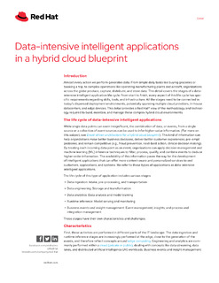 Data-intensive Intelligent Applications in a Hybrid Cloud Blueprint