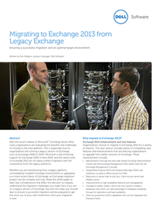 Migrating to Exchange 2013 from Legacy Exchange