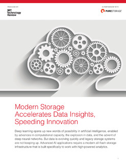 Modern Storage Accelerates Data Insights, Speeding Innovation
