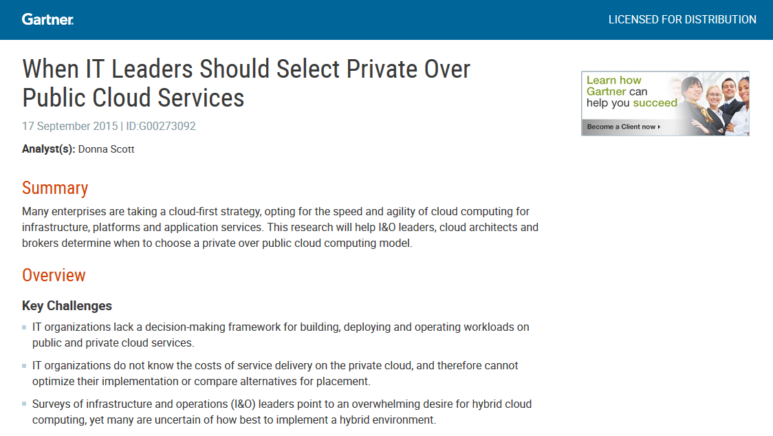 Move Traditional Apps to Cloud – Gartner Report