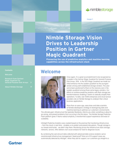 Nimble Storage Vision Drives to Leadership Position in Gartner Magic Quadrant