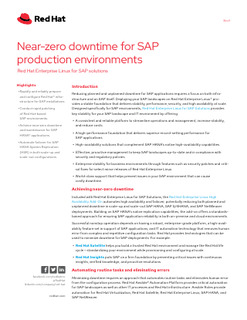 Near-zero Downtime for SAP Production Environments