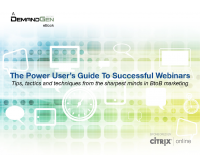 The Power User's Guide To Successful Webinars