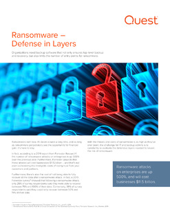 Ransomware – Defense in Layers