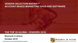 Engagio Named #1 Global Winner in Research in Action's Vendor Selection Matrix™: Account-Based Marketing SaaS and Software