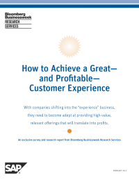 """How to Achieve a Great""""and Profitable""""Customer Experience"""