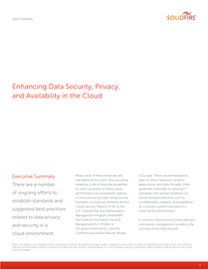 Enhancing Data Security, Privacy, and Availability in the Cloud