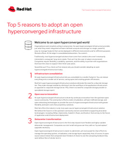Top 5 Reasonse to Adopt an Open Hyperconverged Infrastructure