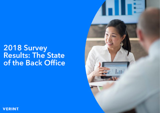 Survey Says? Back Offices Have a Long Way To Go To Be Optimized