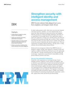Strengthen Security with Intelligent Identity and Access Management