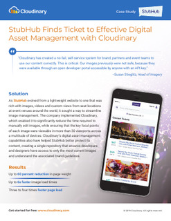 StubHub Finds Ticket to Effective Digital Asset Management with Cloudinary