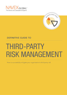 Definitive Guide to Third-Party Risk Management