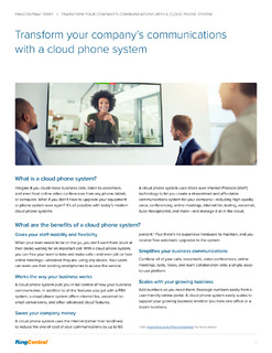 Transform Your Company's Communications with a Cloud Phone System