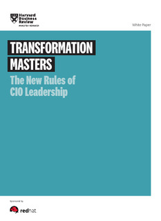Harvard Business Review: New Rules of CIO Leadership
