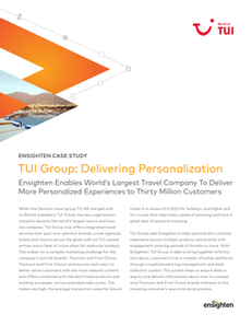 TUI Group: Delivering Personalized Experiences to 30 Million Customers