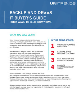 Backup and DRaaS IT Buyer's Guide: Four Ways to Beat Downtime