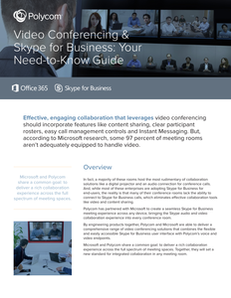 Video conferencing & Skype for Business: Your need-to-know guide