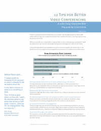 12 tips for Better Video Conferencing
