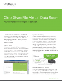 Citrix ShareFile Virtual Data Room