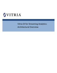 Architectural Overview: Operational Intelligence for Streaming Analytics