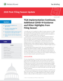 CCH® AnswerConnect Tax Briefing – 2020 Post-Filing Season Update