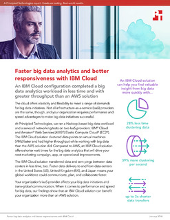Principled Technologies Big Data Workloads Challenge: AWS vs. IBM Cloud