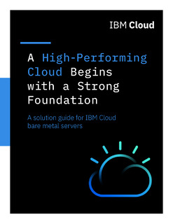 High-Performing Clouds Begin with Strong Foundations:Solution guide for IBM Cloud bare metal servers