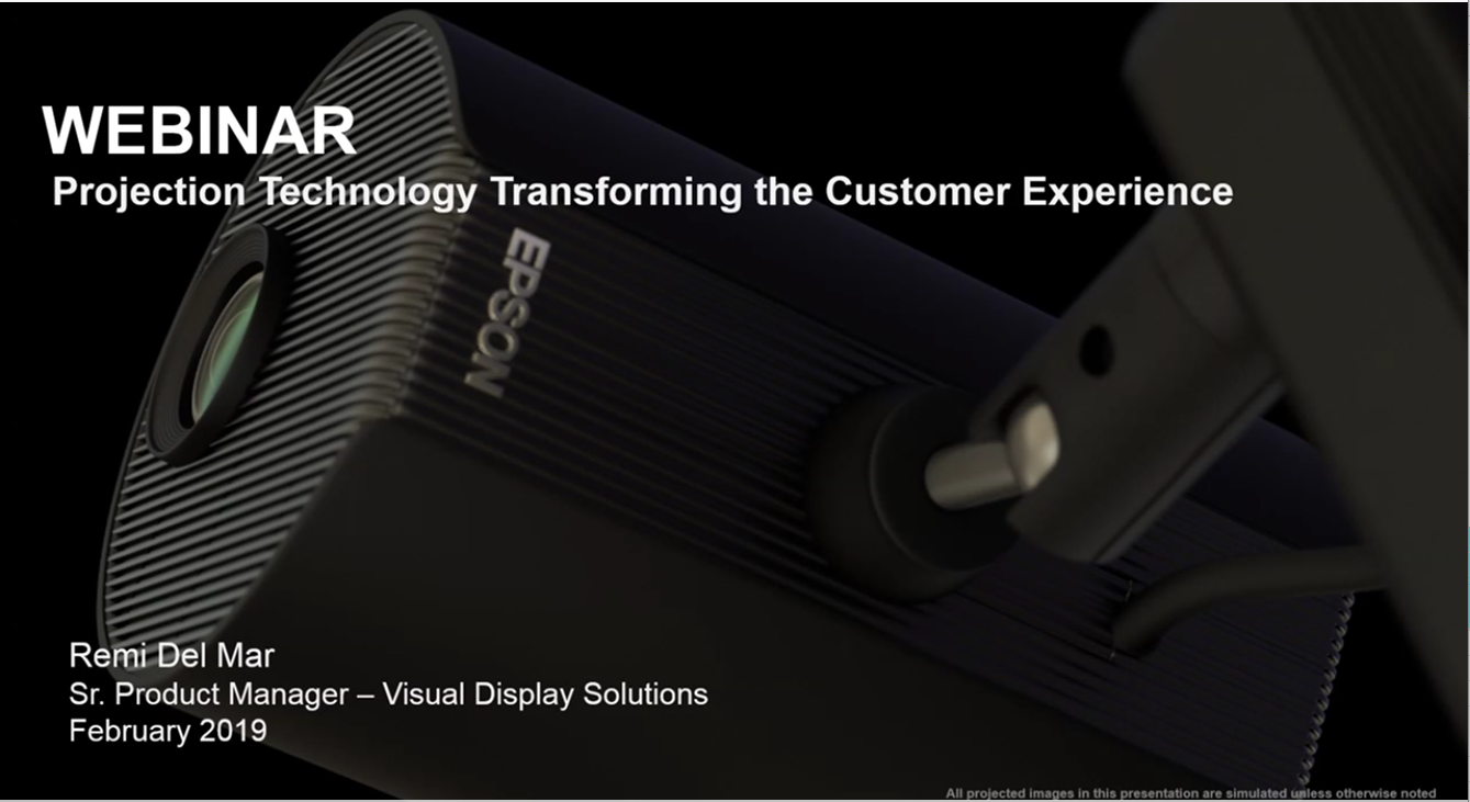 Watch the Webinar: Projection Technology Transforming the Customer Experience