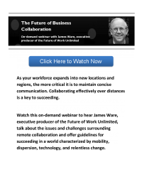 On-Demand Webinar: The Future of Business Collaboration