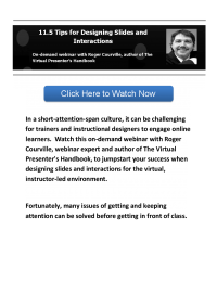11.5 Tips for Designing Slides and Interactions.