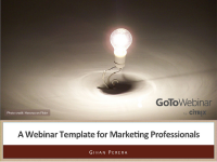 A Webinar Template for Marketing Professionals
